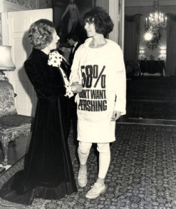 Politically active and inspirational throughout her career, Katharine Hamnett ehtical fashionista