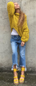 Bright yellow ethical knitwear from Ile Aiye knitwear